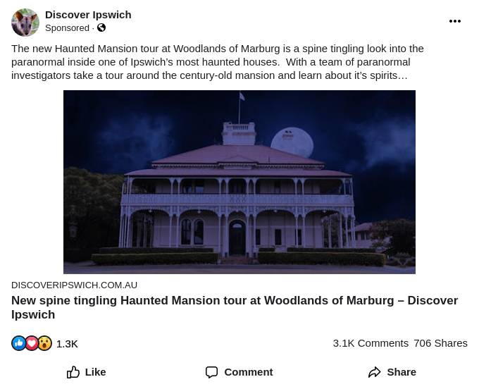 New spine tingling Haunted Mansion tour at Woodlands of Marburg – Discover Ipswich