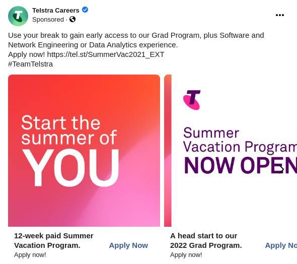 Summer Vacation Program - Telstra Careers
