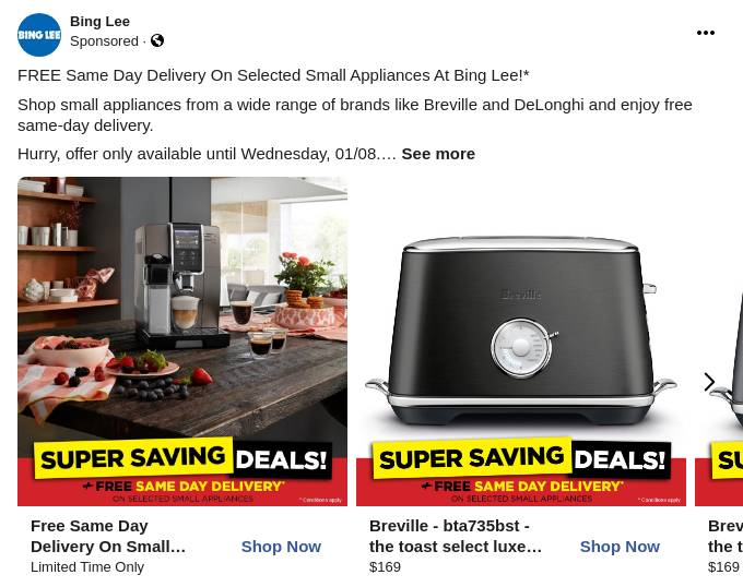 Free Same Day Delivery on Small Appliances - Buy Online with Afterpay & ZipPay
