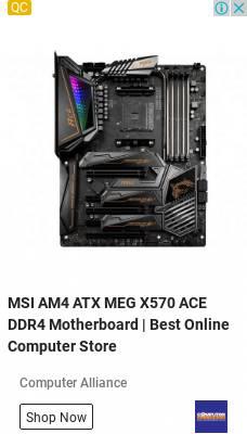 MSI AM4 ATX MEG X570 ACE DDR4 Motherboard | Computer Alliance