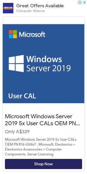 Microsoft Windows Server 2019 5x User CALs OEM   Computer Alliance