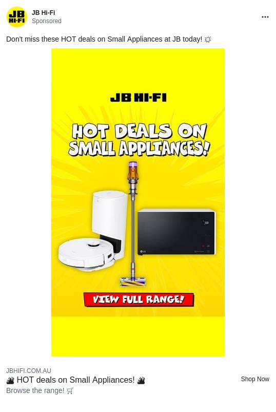 Prices Smashed on Small Appliances | JB Hi-Fi