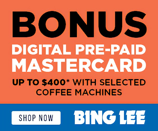 Up to $400 BONUS Digital Pre-Paid Mastercard with Selected Kitchen Appliances - Buy Online with Afterpay & ZipPay
