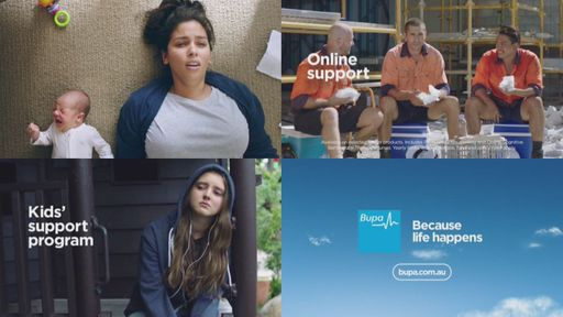 Bupa - Because life happens ad