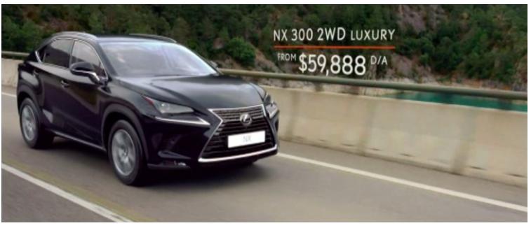Source: BigDatr, Lexus  Driving Away Has Never Felt Better , FTA & Subscription TV captured May 31 - June 28