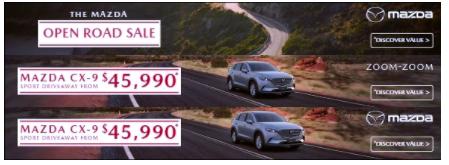 Mazda Open Road Sale