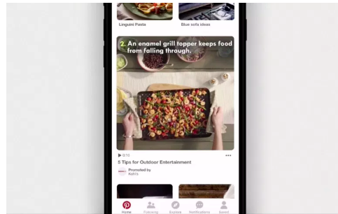 Pinterest's new full-width video ad. Source:  Digiday