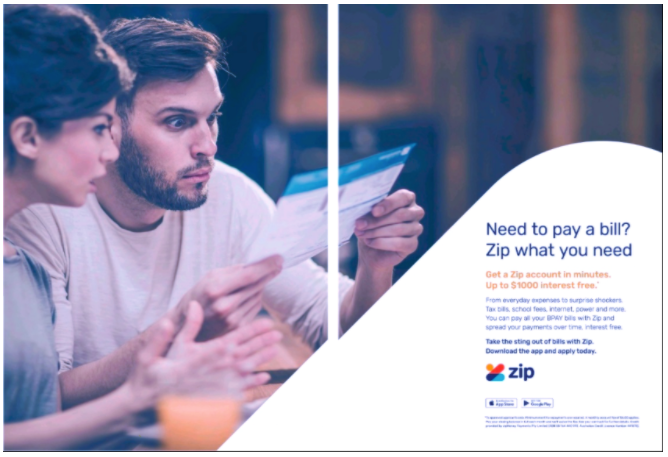 Source: BigDatr, Zip Money  Zip What You Need  campaign, Newspaper, NSW, QLD, SA, VIC, Herald Sun, The Advertiser, The Courier Mail, The Daily Telegraph, June 5 - 8