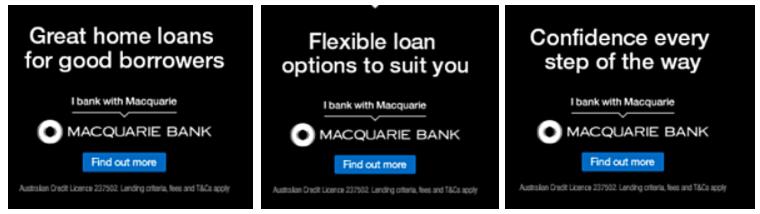 BigDatr, Macquarie Bank  Great Home Loans For Good Borrowers  campaign, Digital Display, Sep 14, theguardian.com