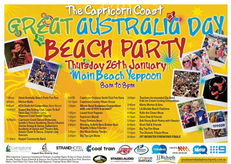 Image of Capricon Coast Aussie Day