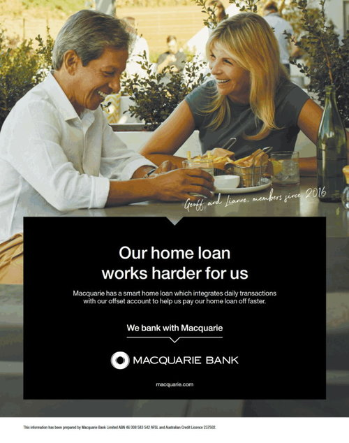 Macquarie Newspaper campaign  Source: BigDatr Campaign Library.