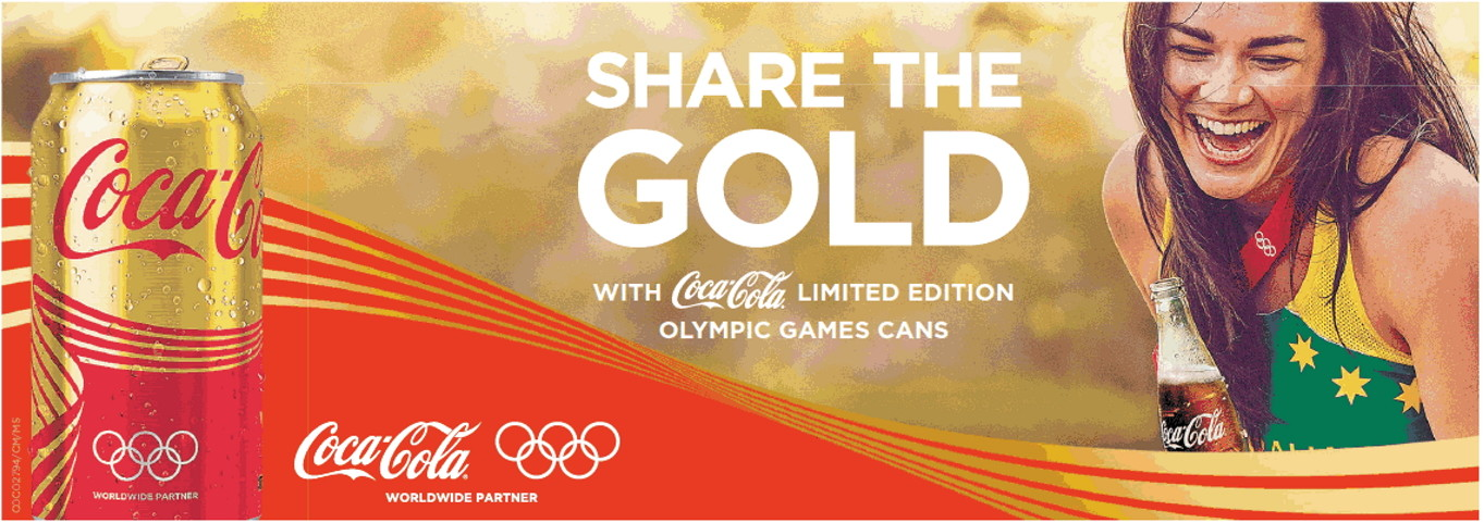 Image of Coca Cola Share The Gold Campaign